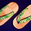 Thumbnail: KAKKO/Holo Holo/ホロホロ緑リーフLサイズ/ローヒール