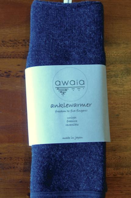 awaia anklewarmer acrylic & wool navy long/アワイア アンクルウォーマー アクリル&ウール/ネイビー ロング