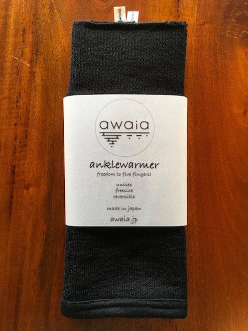 awaia anklewarmer wool: black/ Free size