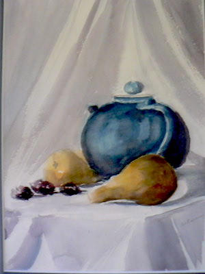 Blue teapot and pears | $250