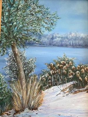 """Winter on Sheep Pond"" $200"