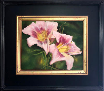 """""""Two Pink Lilies""""  