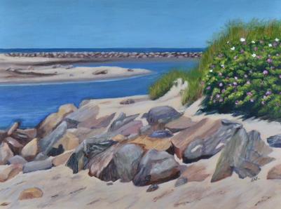 """Summer Blooms on Sesuit Harbor""  |  $175"