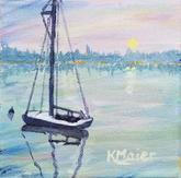 Sunset Sailboat | $25