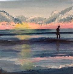 """Peaceful Walk on Shoreline"" | $125"
