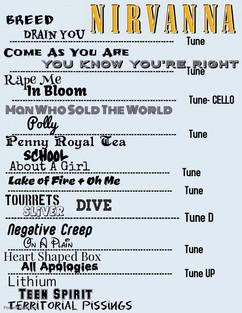 Nirvanna - Set List