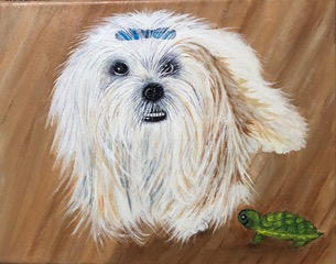 """Portrait of a Favorite Dog"""