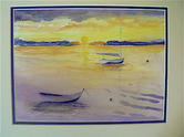 Sunset with Catboat  |  $250