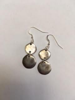 Silver casting earrings   $25