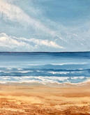 """A Calm Day at the Beach"" 