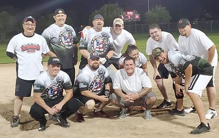 Heroes Sports Photo together playing baseball