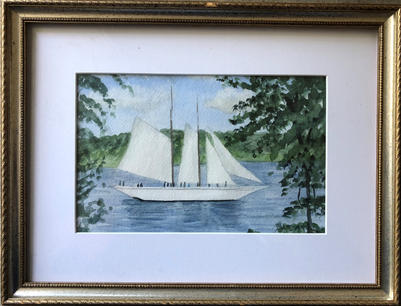 Tall Ship on the Canal | $125