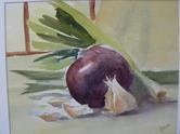 Still life with garlic  |  $175