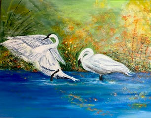 """Graceful Swan"" |  $295"