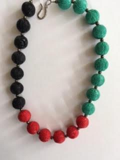 Three color cinnabar necklace   $75
