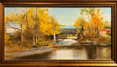 Vermont Covered Bridge in Autumn | $400