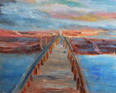 Sunset on the the Boardwalk    $150