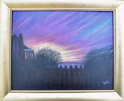 """Brilliant Bayside Sunset""  |  $220./$275"