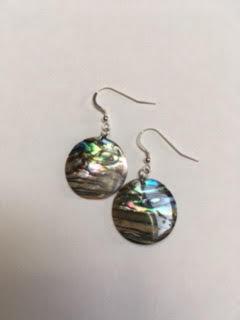 Abalone earrings   $20
