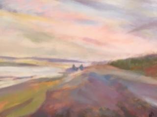 """Long Walk""  |  $250                          Acrylic           19""x20"" canvas wrap"