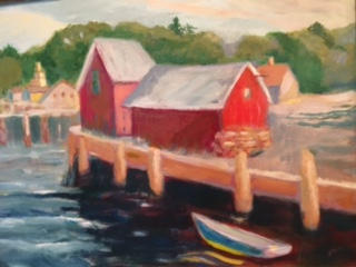 """Blue Boat in Rockport"" $400"
