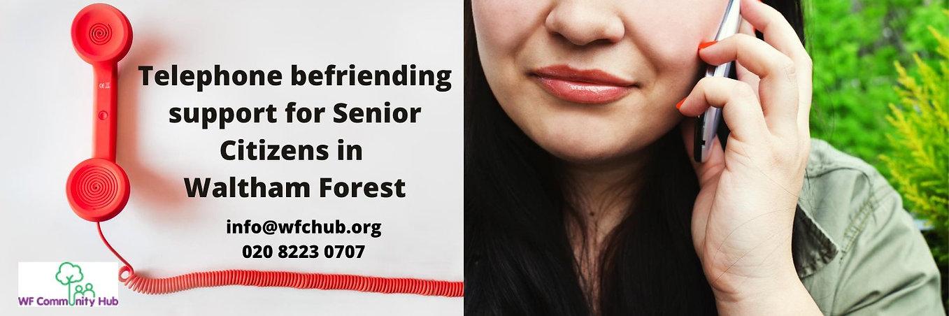 Telephone Befriending support for senior