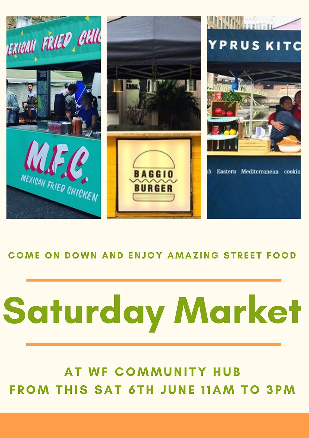 Its back after lock-down, every Sat 11am to 3pm.
