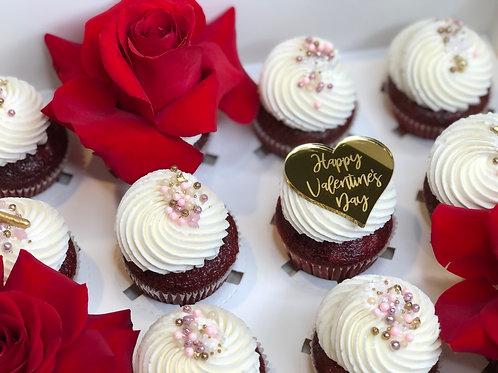 Valentine Glam Cupcakes