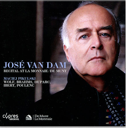 "CD Recital José Van Dam at ""La monnaie de Munt"", accompagnement Maciej Pikulski"