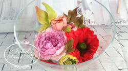 פרחים מבצק שוקולד