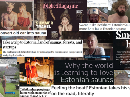 Estonian Saunas in the news