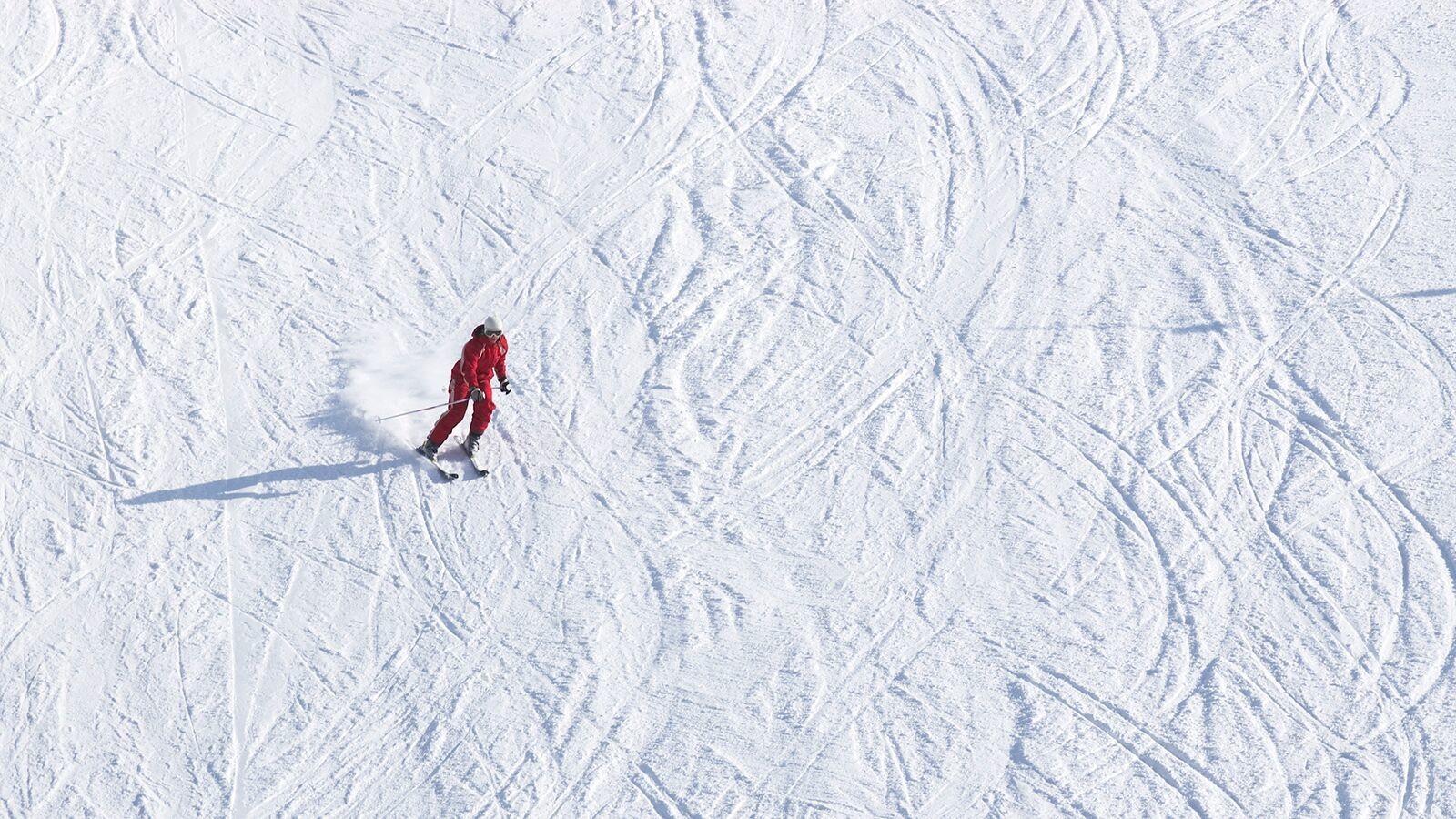 Ski down hill