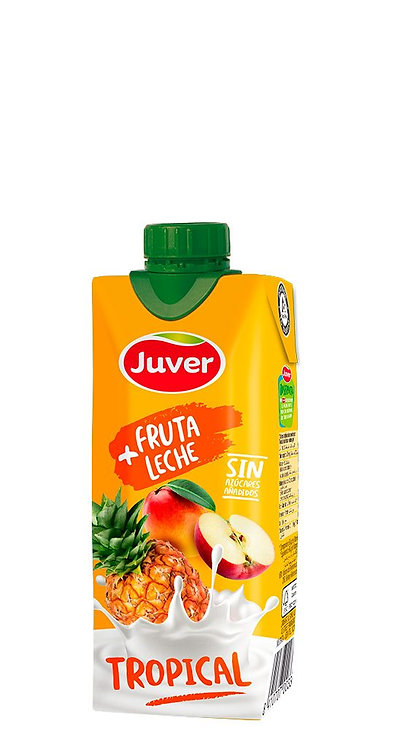 JUVER FRUTA+LECHE TROPICAL PRISMA 330cc C/18u