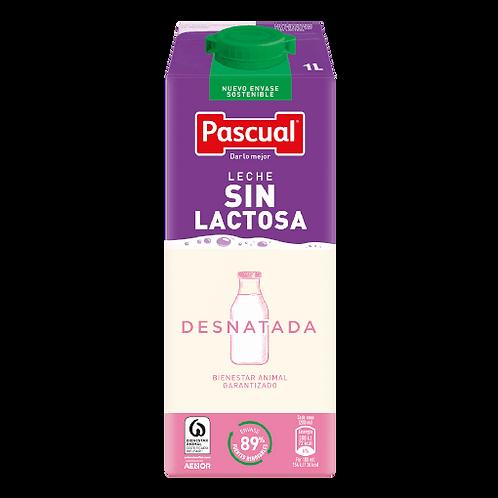 PASCUAL SIN LACTOSA DESNATADA PRISMA 1L. C/6