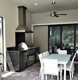 Granite outdoor kitchen
