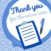 Thank you for the extra care