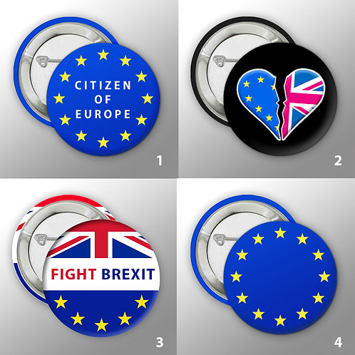 Stop Brexit Button Badge Collection