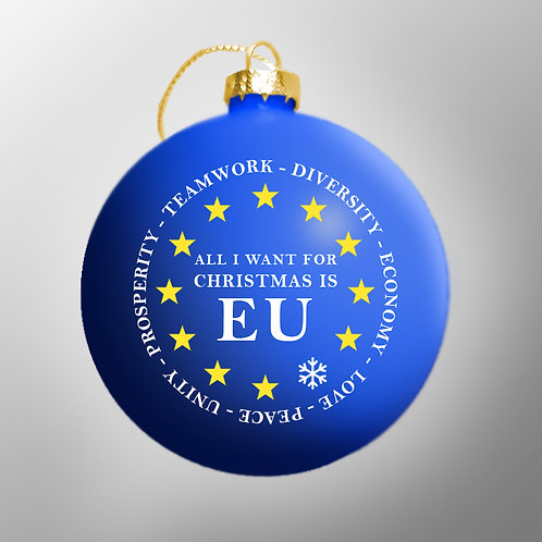 Pro EU Baubles | European Union Christmas Gifts | Anti Brexit Tree Ornaments