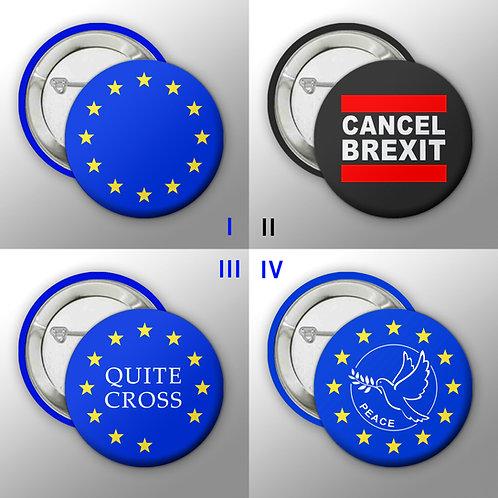 EU Badges | European Union | Remain Gifts | Merchandise | Cancel Brexit