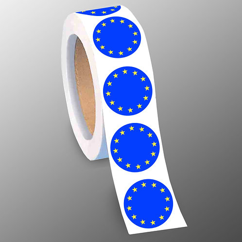 Flag of Europe Stickers | Stop Brexit Campaign Stickers | Fight Brexit | Pro European Union Gifts | Merchandise