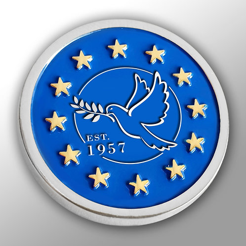 Dove of Peace Silver Plated Lapel Pin Badge | Anti Brexit | Pro EU | Gift | Merchandise