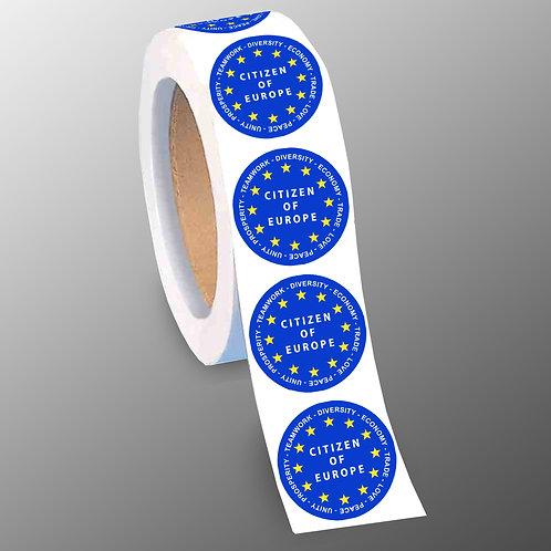 Citizen of Europe Stickers   European Union Merchandise   Remain Gifts   Stop Brexit Shop   Europe Merch