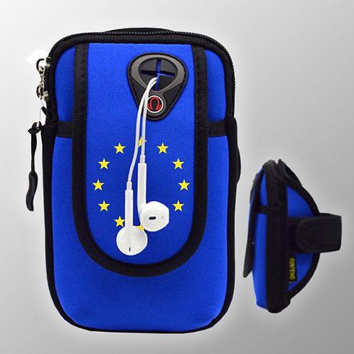 Pro EU Jogging Phone Holder | European Union Merchandise | Remain Gifts | Stop Brexit Shop | Europe Merch