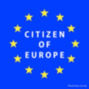 Ciizen of Europe Design 2 | European Union Pro EU Social Media Images, Stop Brexit Collection, bollocks to brexit, stop article 50, EU merchandise, eu gifts, word up design, europa, Flag of Europe