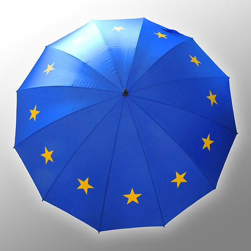 Pro EU Umbrella | 12 Star Flag of Europe Design | Anti Brexit Merchandise | I Heart EU