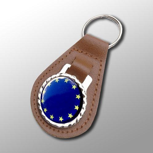 EU Vegan Leather Keyfob with splitring