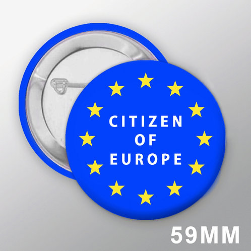 Pro EU Citizen of Europe Large Badge | European Union Merchandise | Remain Gifts | Stop Brexit Shop | I Heart EU