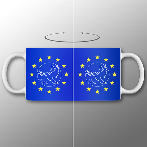 Pro-EU Mug | Dove of Peace | European Union Gifts | Merchandise | Anti Brexit | I Heart EU