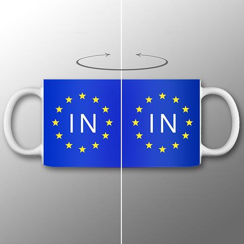 Pro EU IN Mug | European Union Merchandise | Remain Gifts | Stop Brexit Shop | Europe Merch