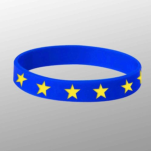 Pro EU Silicone Wristband | EU Wristband | European Union | Anti Brexit Merchandise | I Heart EU